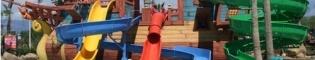 El Galeón Pirata: Visita este Galeón Pirata de Barrio Sésamo en el parque acuático Costa Caribe Aquatic Park de PortAventura, y disfruta de sus 4 toboganes.