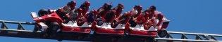 Red Force: Challenge the wind: En Red Force podrás desafiar al viento en la montaña rusa más rápida y alta de Europa, que simula la aceleración de un auténtico Fórmula 1 de Ferrari.